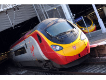 Virgin Pendolino at station