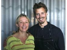 Biexperten Lotta Fabricius Kristiansen och kocken Paul Svensson