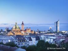 Abendstimmung - Skyline von Leipzig