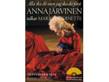 """Anna Järvinen tolkar Marie Antoinette i """"Alla ska dö men jag ska dö först"""""""