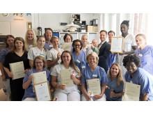 Alla medarbetare på avd 76 har blivit certifierade för utbildning om demenssjukdom.
