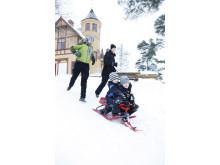 Bobåkning vid Främby Udde i Falun