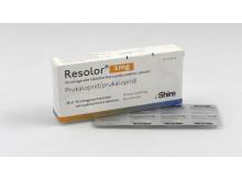 Resolor förpackning och tabletter, pressbild
