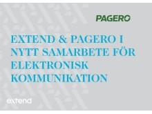 Extend & Pagero i nytt samarbete för elektronisk kommunikation