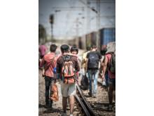 Människor på flykt i Makedonien