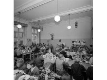 Skolbespisning Hedvig Eleonoras skola 1955