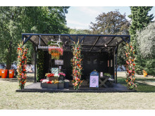 Interfloras blomstrande monter på Way Out West