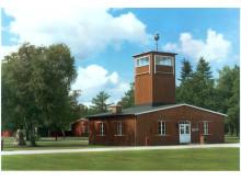 Hovedvagttårnet i Frøslevlejrens Museum