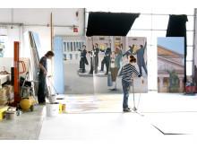 Malerarbeiten zum neuen Hacker-Festzelt