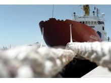 Räddningsfartyget Aquarius i Valencia, Spanien, den 19 juni 2018.