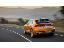 Audi Q8 (dragon orange) bagfra dynamisk