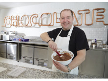 Martyn Robinson at Mondelez' Global Centre for Chocolate Invention in Bournville