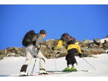 På väg upp för Russelvfjellet Lyngen Norge