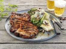 Sommerkoteletter med gratinert hjertesalat