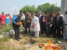 Kanti_Gagan_Kumar_Thapa_layingfoundationstone