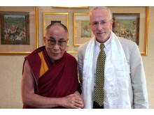 Dalai lama och IMs generalsekreterare Bo Paulsson