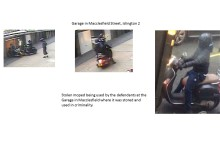 Stolen moped in Macclesfield Street