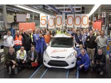 Fords Niehl-fabrik i tyska Köln släppte i väg sin 500 000:e nya Ford Fiesta den 12 januari 2010