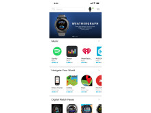 Connect IQ App Store, Musik, Navigation, Watch Faces