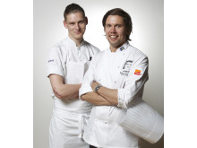 Stockholm Food Stories: Tommy Myllymäki and commis Albin Edberg. Photo; Gastronomi Sverige