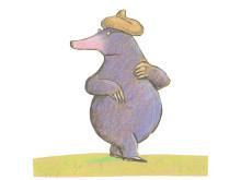 Drawings from the book Vom kleinen Maulwurf, der wissen wollte, wer ihm auf den Kopf gemacht hat
