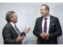 Prof. Bamberg, DKS, mit Günter Kloucek