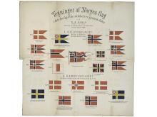 Alle norske flagg gjennom tidene