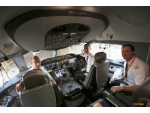 Norwegian Dreamliner Pilots Oakland - Oslo Inaugural