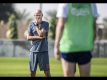 Én times træning med Ståle Solbakken, Viktor Fischer og andre FCK-spillere.