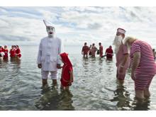 Pjerrot og julemænd Bader i Øresund 2016
