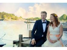 Ekologiskt bröllop_brudpar_Elin Olsson