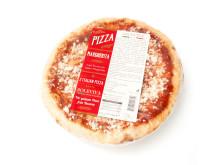 Pizza med tomatsås och mozzarella
