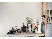 In Klara Kristalova's studio. November 2011.