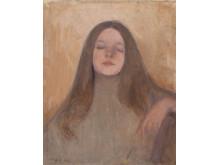 """Ellen Thesleff """"Thyra Elisabeth"""", 1892, olja på duk, 41,4 x 34,5"""