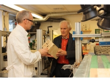 Harry Kroto, Nobel Price Winner in chemistry gives lecture in Nacka