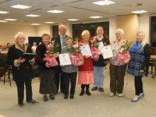 HONOURED: Members of Heywood Pensioners' Association were presented with gifts and certificates to celebrate their 20 years of hard work