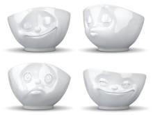 Porslinsskålar med ansiktsuttryck