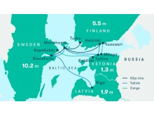 Ruttkarta Tallink och Silja Line