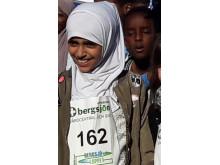 Batul i klass 4C, Solbackeskolan springer Bergsjöloppet.