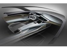 Audi e-tron quattro concept Cockpit Sketch