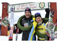 John Kristian Dahl och Britta Johansson Norgren vann Vasaloppet 2017