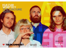 Forside på forårsprogrammet 2019 fra Kulturværftet & Toldkammeret