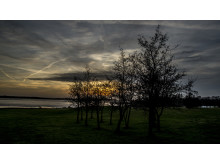 Solnedgang ved Harrevig Golfklub
