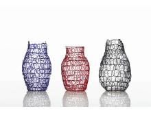 Story Vase blue+red+black