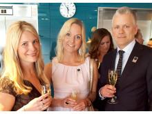 På plats i Stockholm på Retail Award som representanter för NetOnNet fanns bland annat; Finalisten Susanne Ehnbåge (vd), Annelie Forsberg (CFO) och Per Carlsson (HR-chef)