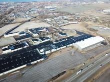 Flygbild över Deromes lager i Landskrona.