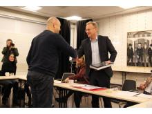 Byrådsleder Raymond Johansen på besøk i Bydel Sagene