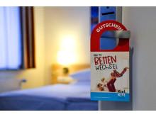 Der Gutschein des Bettenwechsels