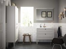 Free tvättställspaket 915 mm varmgrå hel miljö