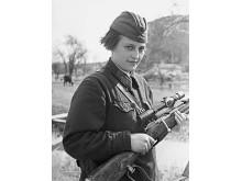 Fanjunkare Ljudmila Pavlitjenko, mars 1942 i Sevastopol.